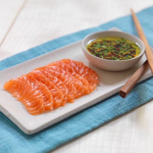 Air Flown Fresh Norway Salmon Sashimi Cut 250g Soy Sauce