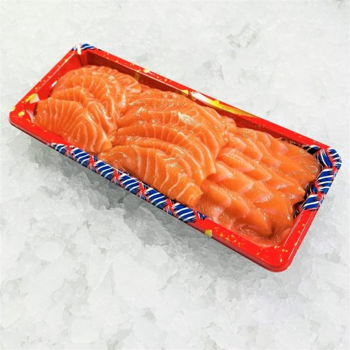 Air Flown Fresh Norway Salmon Sashimi Cut 250g Unpacked Diagonally
