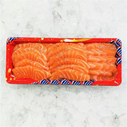 Air Flown Fresh Norway Salmon Sashimi Cut 250g Unpacked Front