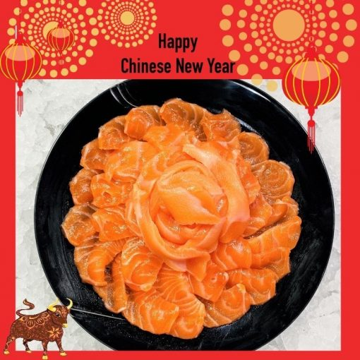 Air Flown Fresh Norway Salmon Sashimi Cut 500g Plate Cny
