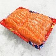 Air Flown Fresh Norway Salmon Sashimi Cut 500g Unpacked Diagonally