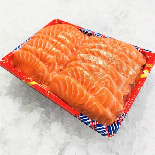 Air Flown Fresh Norway Salmon Sashimi Cut 500g Unpacked Diagonally