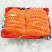 Air Flown Fresh Norway Salmon Sashimi Cut 500g Unpacked Front