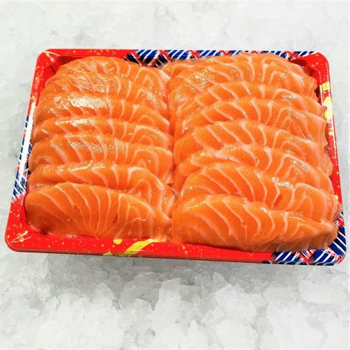 Air Flown Fresh Norway Salmon Sashimi Cut 500g Unpacked Front