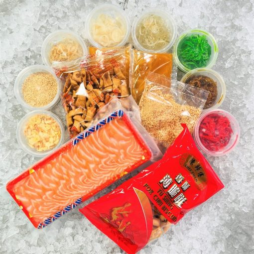 Cny Yusheng Bundle Fresh Salmon Sashimi 8 10 Pax Packed Biscuit