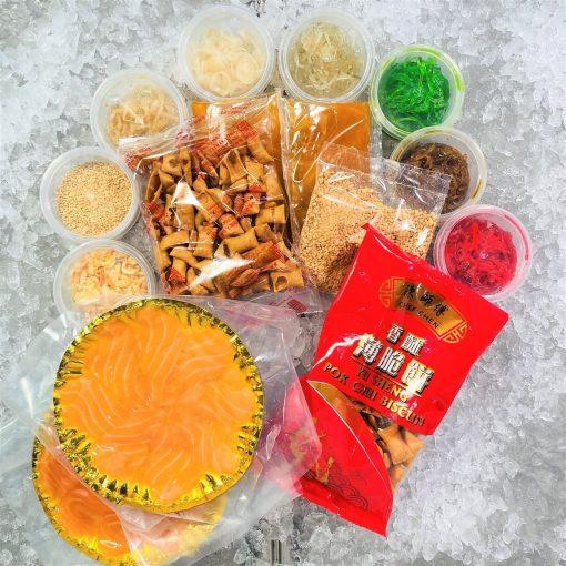 Cny Yusheng Bundle Frozen Salmon Sashimi 4 5pax Biscuit