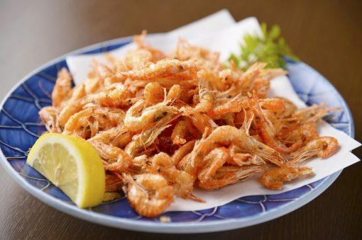 Frozen Japan Lake Shrimps Kawaebi Whole Head On 1kg Deep Fried
