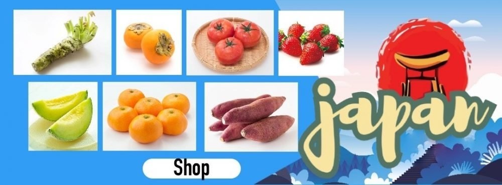 Air Flown Japan Fresh Fruits Vegetable Banner