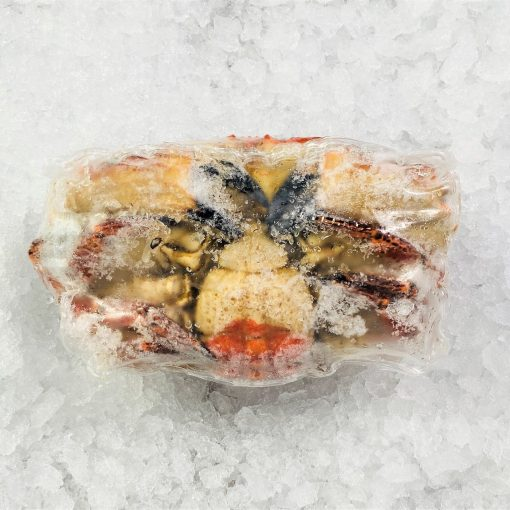 Frozen Ireland Brown Crab Whole Cooked 800 1000g Pack Belly